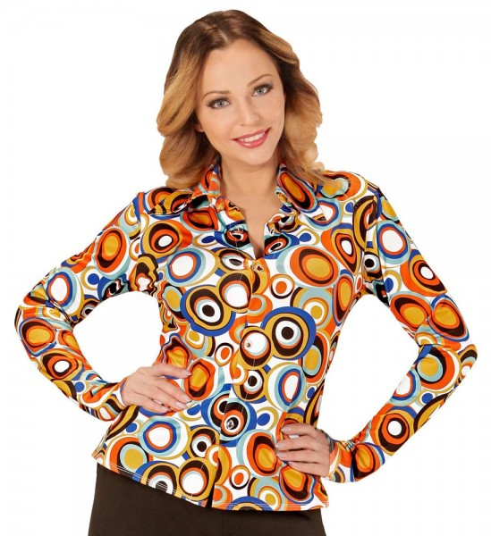 Crazy 70s blouse Lisa for women