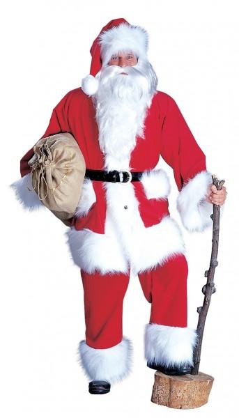 Disfraz de Papá Noel noble de pana