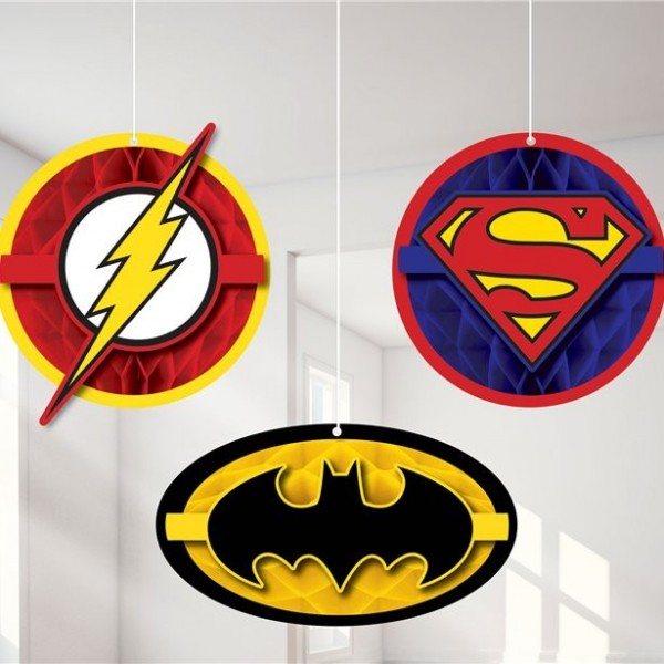 Justice League Hängedeko Set 3-teilig