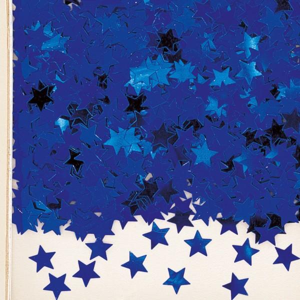 Sparkling star decoration Stella royal blue metallic
