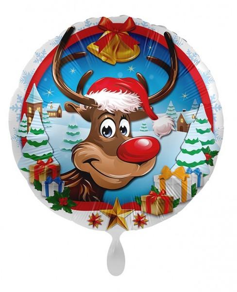 Weihnachts-Folienballon Rudolf 45cm