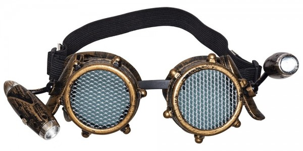 Steampunk Brille mit Lampen