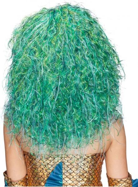 Parrucca a sirena blu-verde