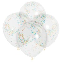 6 Konfetti Luftballons Celebration Bunt