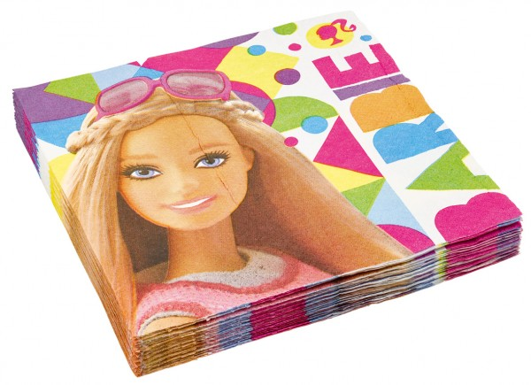 20 serviettes Barbie Fashionista 33cm