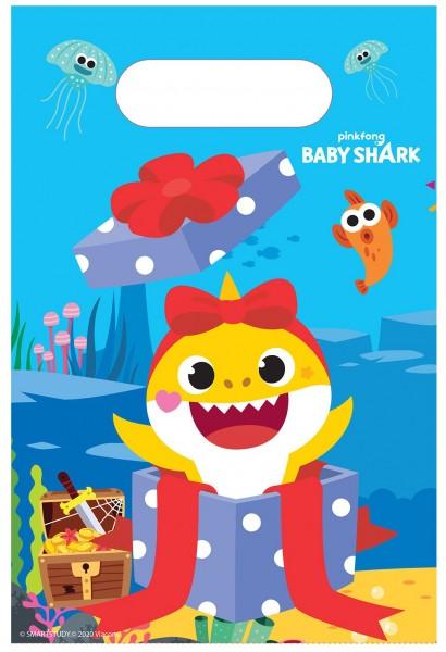 8 Baby Shark Family Geschenktüten