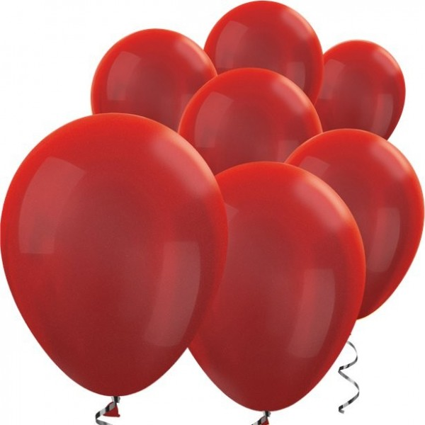 100 mini globos de látex rojos 13cm