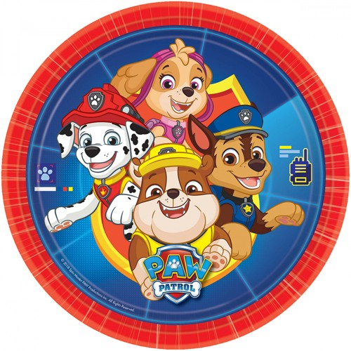 8 Paw Patrol Action Pappteller 23cm 1