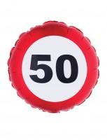 Folienballon Achtung 50