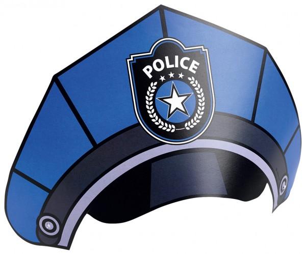 Polizei Action Kinder Hut 8er Set
