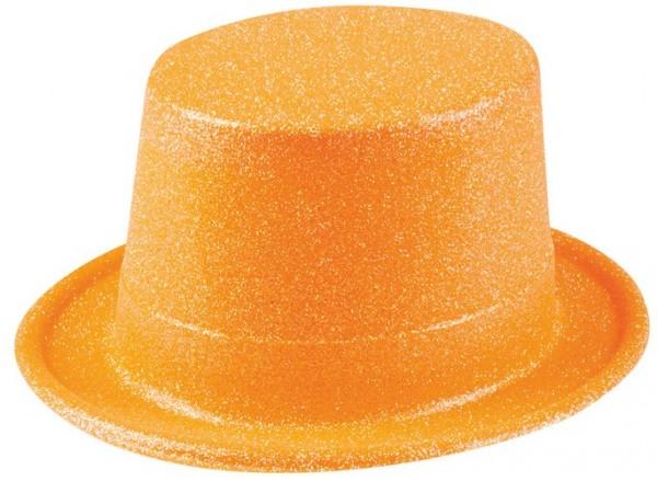 Orangener Glitzer Neon Zylinder