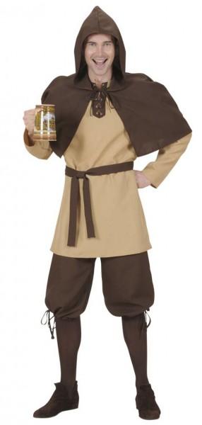 Braunes Mittelalter Söldner Kostüm