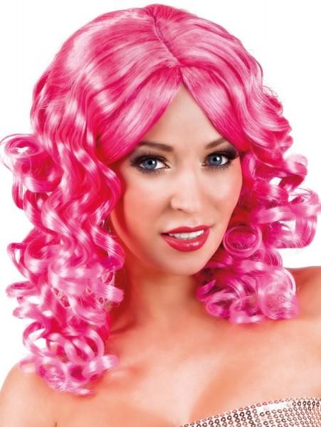 Lockenzauber Damen-Perücke Pink