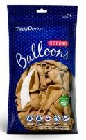 10 Partystar metallic Ballons gold 27cm