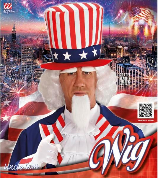 USA Uncle Sam Perücken-Set Mit Spitzbart Und Augenbrauen