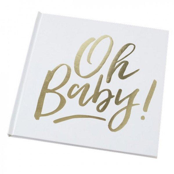 Oh baby guest book 21 x 21cm