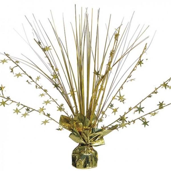 Fuente de mesa dorada 30cm