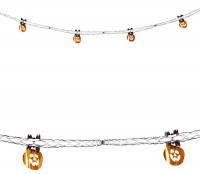 Glänzende Kürbis Halloween Girlande 270cm