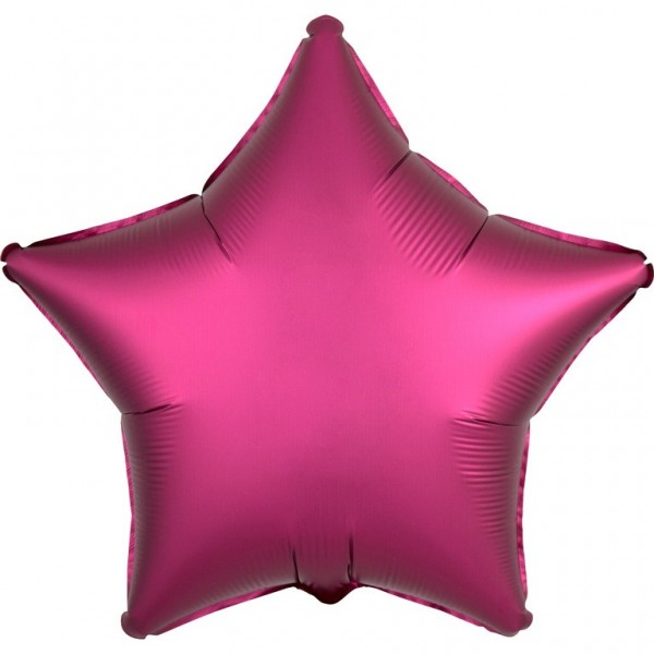 Foil balloon star satin look pink