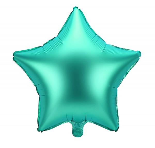 Ballon aluminium Star vert mat 48cm