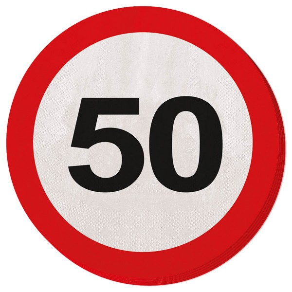 20 traffic sign 50 napkins 33cm