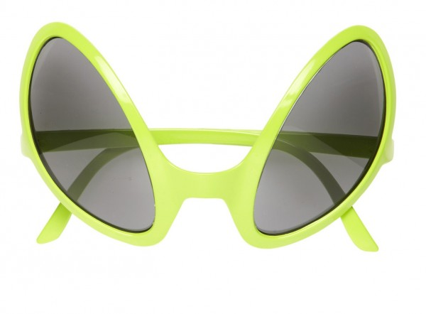 Spacy Alien Sonnenbrille Neon Gelb