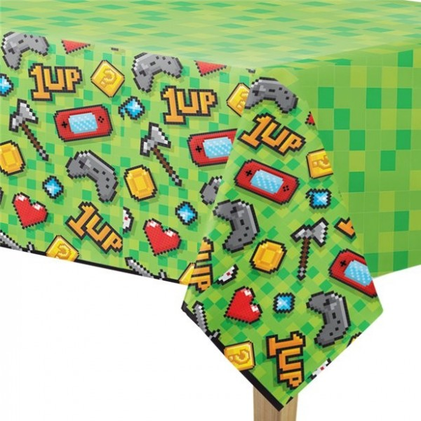 Level Up Birthday Tischdecke 2,5 x 1,37m