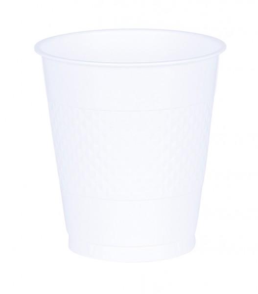 10 Kunststoff Becher Mila weiß 355ml