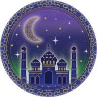 8 Papierteller Eid Mubarak 18cm