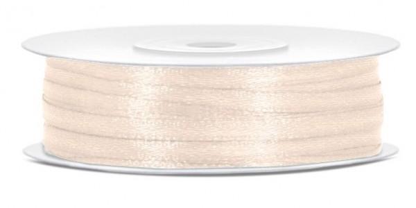 50m cinta de raso crema ligera 3 mm de ancho