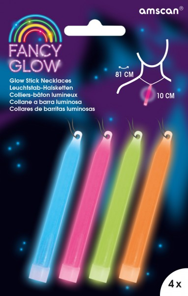 Power Glowstick avec cordon 10cm coloré