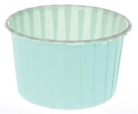 24 moules à muffins turquoise Marina 6cm