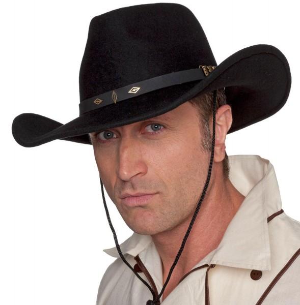 Schwarzer Cowboy Filzhut Jack