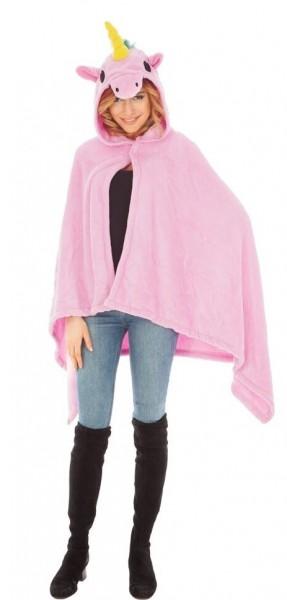 Einhorn Poncho für Damen rosa