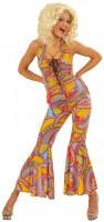 Funky 70er Jahre Disco Dame Jumpsuit
