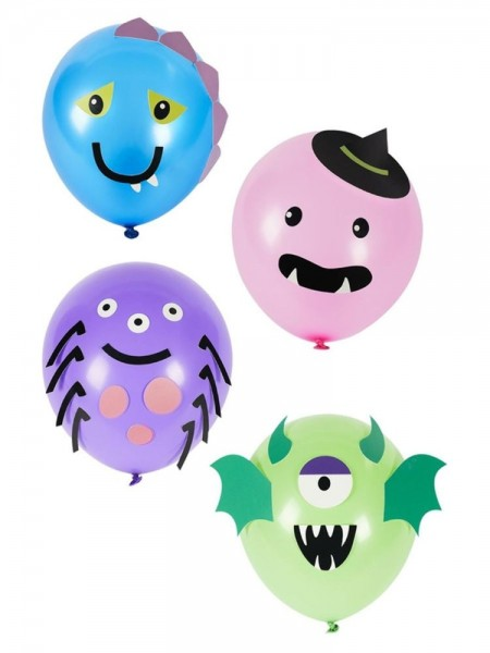 8 Monster Party Ballons