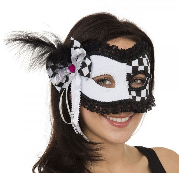 Verspielte Harlekin Maske Für Damen