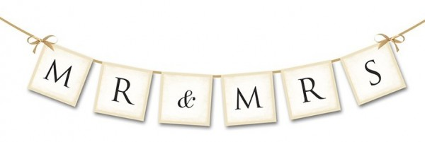 Banner Mr And Mrs 77cm