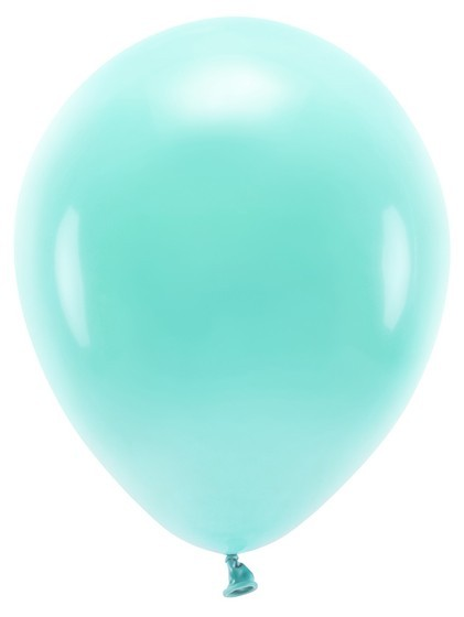 100 Eco Pastell Ballons türkis 30cm
