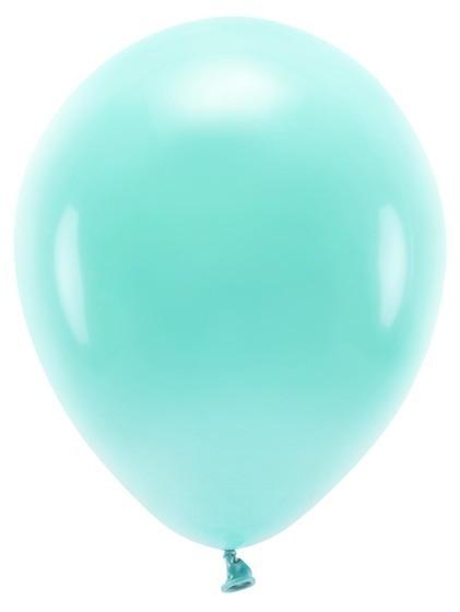 100 ballons éco pastel turquoise 30cm