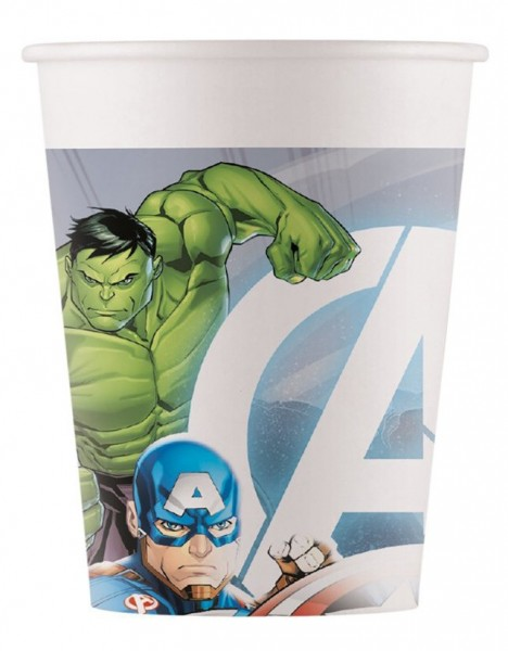 8 vasos Avengers Fight 200ml