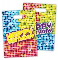 6 Groovy Happy Birthday Geschenktüten