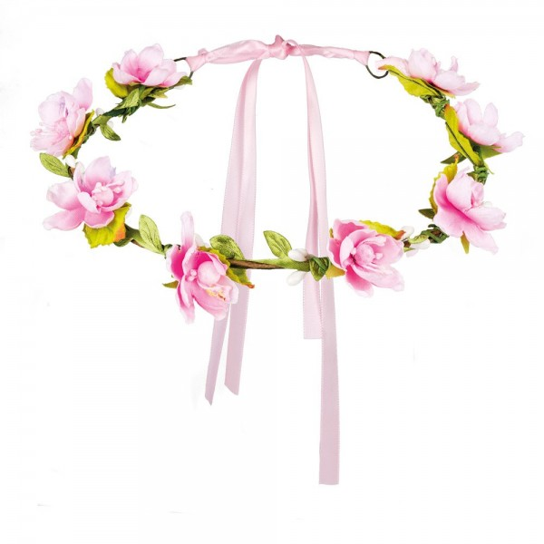 Delicate cherry blossom floral hair wreath