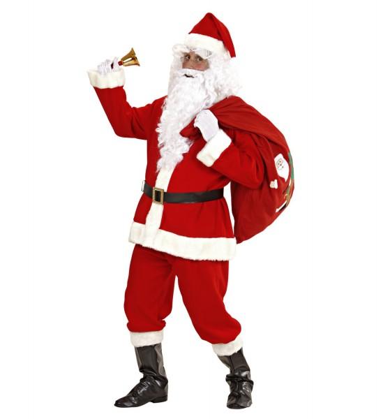 Disfraz clásico de Santa Claus 8 piezas