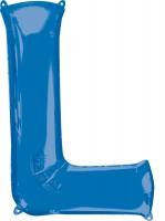 Folienballon Buchstabe L blau XL 81cm