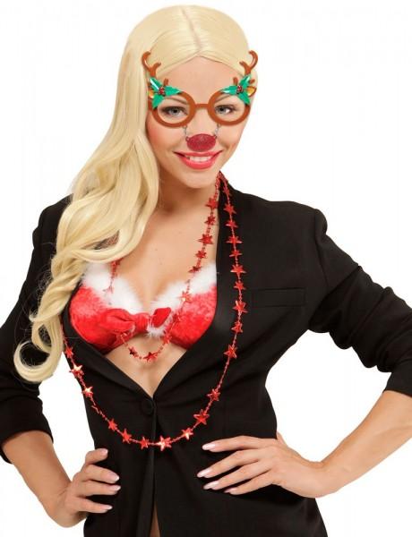 Divertidas gafas de reno Rudolf