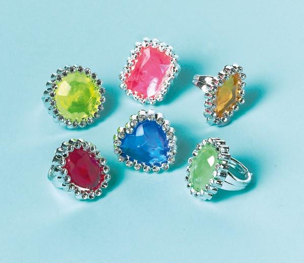 Noble Crown Jewels Bagues pour petites princesses 18 pièces