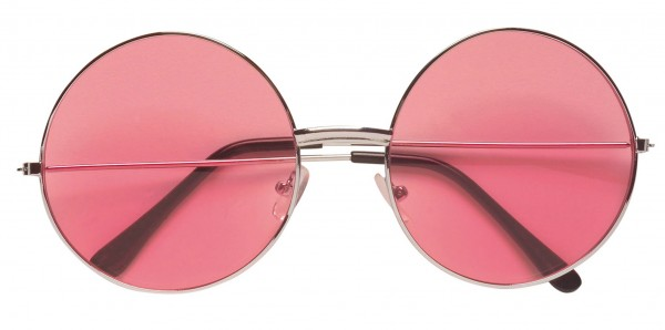 Pink hippie glasses 70s
