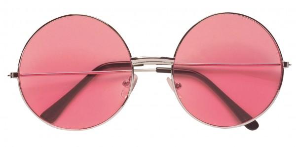 Occhiali Hippie rosa anni '70