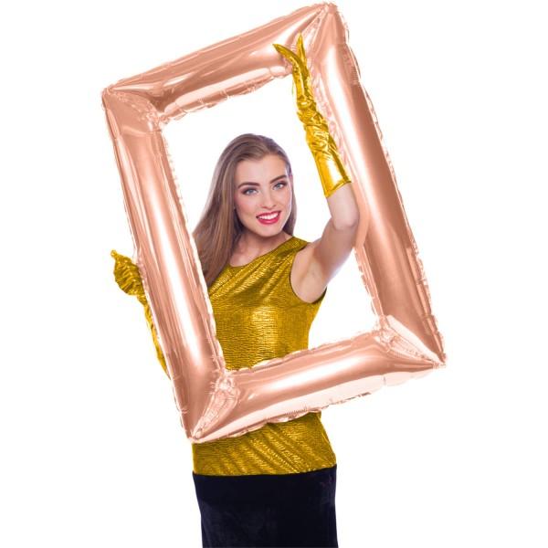 Marco de fotos dorado rosa 85 x 60cm